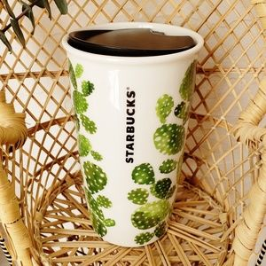 Starbucks Cactus Travel Mug Tumbler 12 fl oz